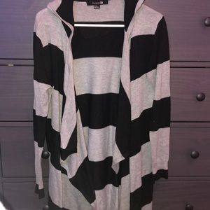 Forever 21 Stripped Cardigan